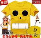 F&P Anime OP/ ONE PIECE Luffy Captain  Cosplay T SHIRT 100% Cotton  S-XXL
