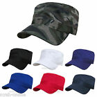 NEW PLAIN CADET CAP MILITARY FITTED CLASSIC BASEBALL CAPS PEAK ARMY HAT S-M-L-XL