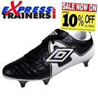 Umbro Men's Speciali SG Football Boots Black White * AUTHENTIC *