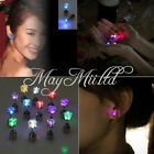 1 Pair Womens Mens Unisex Retro Punk Gothic LED Light Up Earrings Ear Studs O