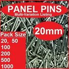 20mm Panel Pins   Large & Small Pack Sizes   1.6g   Steel Nails Pannel Pin Tacks