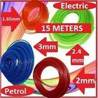 PETROl & ELECTRIC STRIMMER LINE WIRE 15m Long 1.65, 2, 2.4 & 3mm NYLON Trimmer