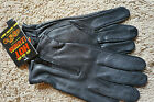 NWT Motorcycle Driving Black Zip Up Gloves Hot Leathers Unlined XS S M L XL