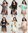 FASHIONABLE WOMENS CHIFFON SUMMER LOOSE TOPS SHIRT DRESS PLUS SIZE HOT 6 COLORS
