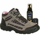 New Ladies Womens Hiking Walking Trainers with Combi Cleaner & Sponge