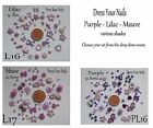Nail Art, Craft Card Making Scrapbook LILAC PURPLE MAUVE  Bow Flowers Hearts UK