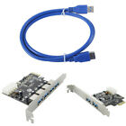 2 Port/4 Port 5Gbps USB 3 HUB to PCI-E PCI Express Card Adapter Exten Cable BDRG