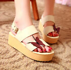 Women Butterfly Slingback Casual Wedge Heels Creepers Sweet Girls Sandals Shoes