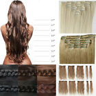 USPS Full Head Clip In Hair Extensions straight curly style real feel woman hair