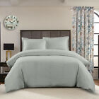100% Cotton 3PC Duvet Cover Set Superior Percale Weave Solid 300 Thread Count  image