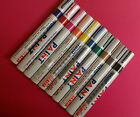 10 PACK BLOCK COLOUR PAINT PEN PERMANENT MARKERS 10 COLOURS CAR TYRE PAINT PEN