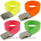 NEW Mens Ladies Webbing NEON CANVAS BELT Unisex Goth Punks Skaters Teens Stylish