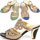 New Shiny Womens Summer Casual Sexy Heels Sandals Slides Shoes