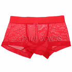 Muscle Cool See Through Mens New Underwear Boxers Briefs Shorts Smooth Lingerie