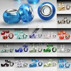 5/10pcs Lampwork Glass Large Hole European Charms Spacers Beads Wholesale 5MM
