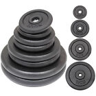 """30kg-120kg Standard Cast Iron Weight Plate Set 1"""" Home Gym - Choose Total Weight"""