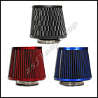 """3"""" HIGH FLOW DRY CONE COLD SHORT RAM AIR INTAKE FILTER UNIVERSAL 3-COLOR CHOOSE"""