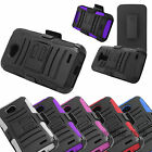Hybrid Rugged Stand Holster Rotating Belt Clip Case Cover for LG Phones