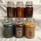 YANKEE CANDLE Large 22 oz Jar Candles U PICK Single Wick FALL AUTUMN Scents