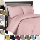 Striped 600 Full/Queen Duvet Cover Woven from pure 100%Egyptian Cotton