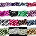 50-210pcs Glass Pearl Round Spacer Loose Beads 4mm/6mm/8mm/10mm/12mm/14mm/16mm