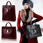 2015 Luxury Lady Women Crocodile Pattern Hobo Handbag Tote Bags 2 Size 2 Color