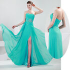Elegant Floor Length Prom Formal Party Ball Evening Pageant Dress Wedding Gown