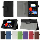 """Hand Strap Leather Case Skin Card Wallet Cover For Lenovo A7-50 A3500 7"""" Tablet"""