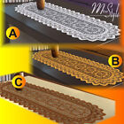 "Table Runner Lace White or Antique Gold or Brown Polyester 14"" x 47"""