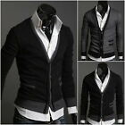 Mens Casual Cotton Premium Stylish V-neck Sweater Tops Cardigan Button