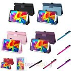 Stylish Leather Case Stand Cover For Samsung Galaxy Tab 4 8.0 T330+Pen+LCD Film