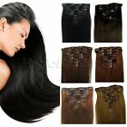 7PCs 70g 6 Color 15-22 Inch Clip In Real Remy Human Hair Extensions Full Head