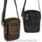 NEW Ladies Compact LEATHER Cross Body BAG by Blousey Brown North South MESSENGER