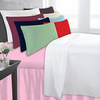 SUPER KING SIZE FITTED VALANCE SHEET 180 THREAD COUNT PERCALE PLAIN 11 COLOURS