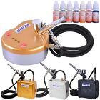 Dual Action Airbrush Compressor Kit Body Makeup Tattoo Ink Art Spray Gun Hobby