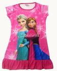 Disney Frozen Elsa Anna Enfants Filles Jupe Hot Rose Pyjama Robe Girl Dress 3-10