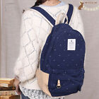 Cute Fashion Women's Canvas Travel Satchel Shoulder Bag Backpack School Rucksack
