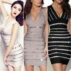 Crystals Embellished Light Pink Womens Sexy Cocktail Party Bandage Dress EDK