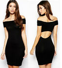 New Sexy Womens Cotton Mini Short Slim Fitted Pencial Dress Skirt Bodycon Party
