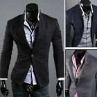 London Stock Men Casual Slim Formal Suit Tops Jacket Blazer Coat Outwear Button-