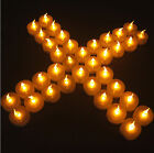 1-20 LED tea light tealight candle flameless flickering wedding battery included