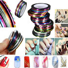 Rouleaux Foil Fil Sticker Ongle Striping UV Gel Déco Autocollant Nail Art Tips