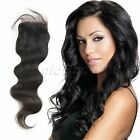 "3.5x4"" Brazilian Body Wave Virgin Remy Human Hair Pieces Lace Top Closure 10-16"""