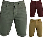 Mens Next Slim Fit Chino Cotton Denim Knee Length Shorts Roll Up Shorts All Size
