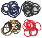Pack of 10 Traditional Endless Snag Free Hair Elastics Pony Tail Bands Bobbles