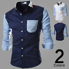 New style Mens Slim Fit Top Formal Long Sleeve Plaid Casual Dress Shirts Hot