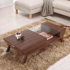 Browson Contemporary Style Glass Insert Coffee Table