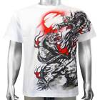 Japanese Tattoo Chinese Dragon Bengal Tiger Cat Animal Mens T-shirt XL & XXL