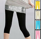 New Stretch Shorts Spandex Tight Leggings Pants  One size fit S-M