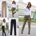 New Womens Summer Stylish Slim Casual Harem Pants Slacks Long Fitted Trousers